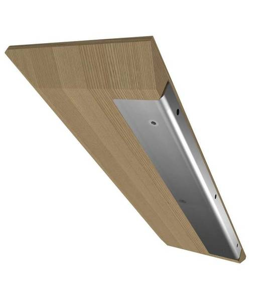 200/mm 6/mm d/épaisseur en verre tremp/é /étag/ère dangle de salle de bain Chambre /à coucher de cuisine avec grande Chrome Prend en charge 20,3/cm Environ